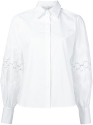Carolina Herrera Lace Insert Shirt White