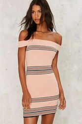 Sandra Off The Shoulder Bodycon Dress Pink
