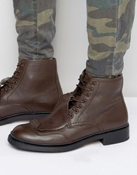 G Star Guard Lace Up Leather Boots Brown