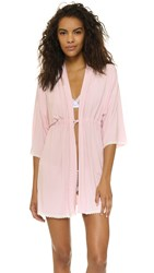 Cheek Frills Carolyn Murphy Block Robe Pink