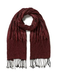 East Silk Ruched Scarf Red