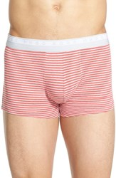 Men's Boss Stripe Stretch Boxers Bright Red