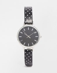 Asos Mini Polka Dot Watch Black
