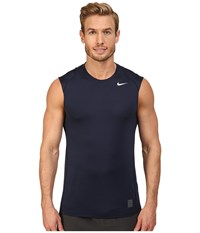 Nike Pro Cool Fitted S L Obsidian Dark Grey White Men's Clothing Gray