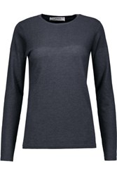 Goat Bruno Cashmere And Silk Blend Sweater Storm Blue