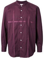 En Route Band Collar Shirt Red
