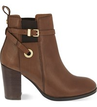 Carvela Stacey Leather Heeled Ankle Boots Tan