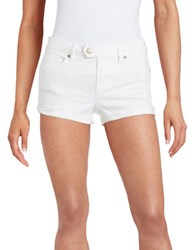 Dittos Distressed Cotton Stretch Shorts White