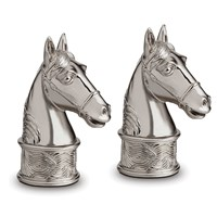 L'objet Horse Salt And Peppers Set Of 2 Platinum