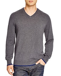 Robert Graham Nolan V Neck Sweater Bloomingdale's Exclusive Smoke