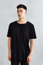 The Narrows Square Neck Pocket Tee Black