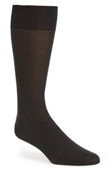 John W. Nordstromr Men's Big And Tall Nordstrom 'Try Angle' Textured Socks Charcoal Marle