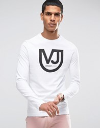 Versace Longsleeve T Shirt With Logo White