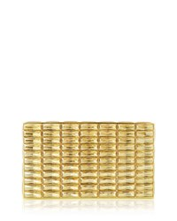 Judith Leiber Duchesse Faceted Box Clutch Bag Gold