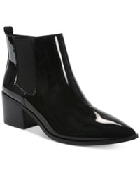 Tahari Ranch Pointed Toe Ankle Booties Women's Shoes Black Patent