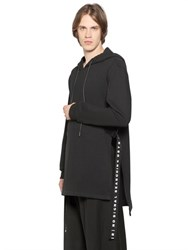 D By D Hooded Long Cotton Sweatshirt