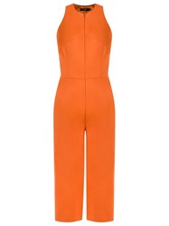 Andrea Marques Cropped Jumpsuit Yellow And Orange
