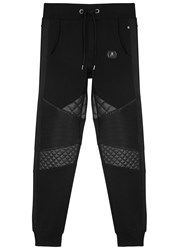 Philipp Plein Never Let It Go Panelled Jogging Trousers Black