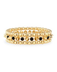 Jules Smith Designs Small Spike And Stone Bracelet Jules Smith Yellow Gold Black