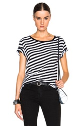 Rag And Bone Rag And Bone Jean Concert Stripe Tee In Black Stripes White