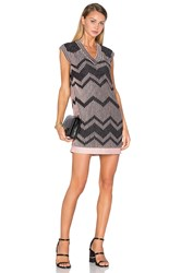M Missoni V Neck Shift Dress Pink
