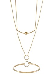 New Look 2 Pack Necklace Goldcoloured