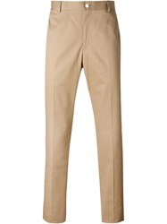 Thom Browne Slim Fit Trousers Nude And Neutrals