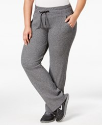 Calvin Klein Performance Plus Size Sweat Pants Black Heather