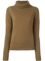Vanessa Bruno Cowl Neck Jumper Brown
