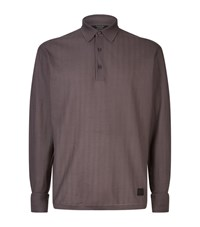 Ermenegildo Zegna Maserati Chevron Polo Top Male Brown
