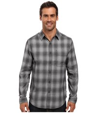 Royal Robbins Performance Flannel Ombre Long Sleeve Shirt Charcoal Men's Clothing Gray