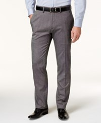 Kenneth Cole Reaction Men's Black And Charcoal Tic Weave Slim Fit Dress Pants