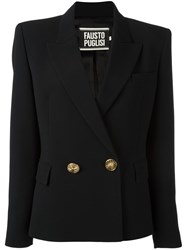 Fausto Puglisi Double Breasted Fitted Jacket Black