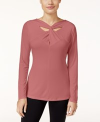Thalia Sodi Twist Neck Top Only At Macy's Medieval Rose