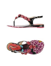 Poetic Licence Thong Sandals Black
