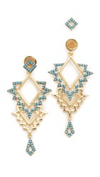 Noir Tatina Earrings Turquoise Gold