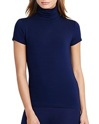 Ralph Lauren Turtleneck Short Sleeve Tee Navy