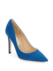 Diane Von Furstenberg Bethany Printed Suede Point Toe Pumps