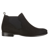 Jigsaw Pixie Leather Chelsea Boots Black Nubuck