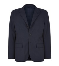 Burberry Wool Down Lined Blazer Male Navy