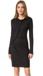 Carven Twist Jersey Dress Black