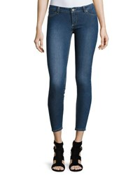 Cheap Monday Spray On Low Rise Skinny Jeans Mid Blue