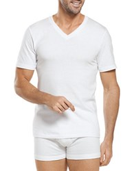 Jockey Big And Tall 2 Pack Stay New V Neck Set White