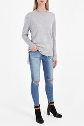 Rta Denim Arianne Crew Neck Jumper Grey