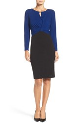 Ellen Tracy Women's Colorblock Stretch Sheath Dress