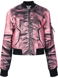 Moschino Trompe L'ail Bomber Pink Purple