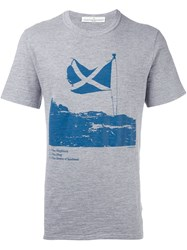 Golden Goose Deluxe Brand Scottish Flag Print T Shirt Grey