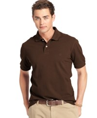 Izod Big And Tall Short Sleeve Heritage Pique Polo Vh Bronze