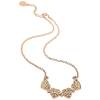 Folli Follie Heart4heart Rose Gold Necklace Champagne