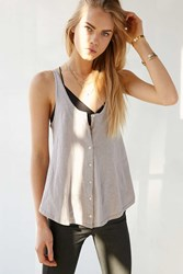 Bdg Button Down Tank Top Grey